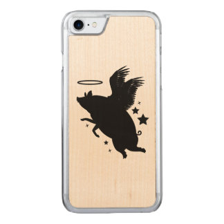 Angelic Pig in Silhouette Carved iPhone 8/7 Case