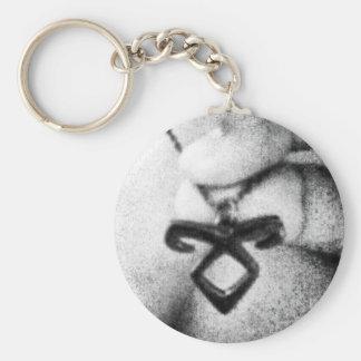 Angelic Power Rune Basic Round Button Keychain