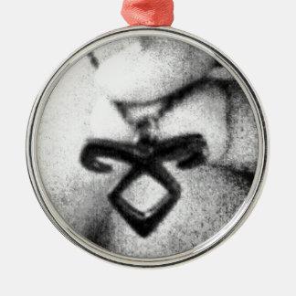 Angelic Power Rune Silver-Colored Round Ornament