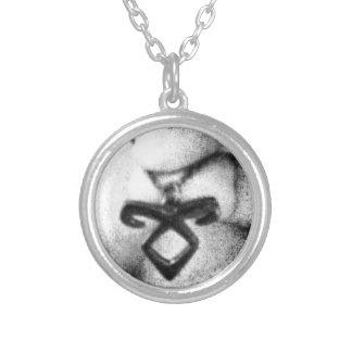 Angelic Power Rune Round Pendant Necklace