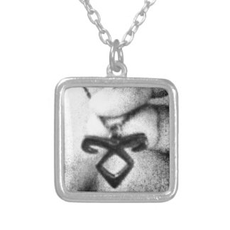 Angelic Power Rune Square Pendant Necklace