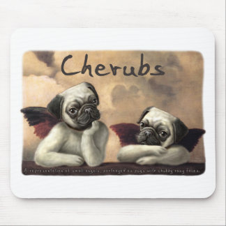 Angelic Pug Cherub Gift Items Mouse Pad