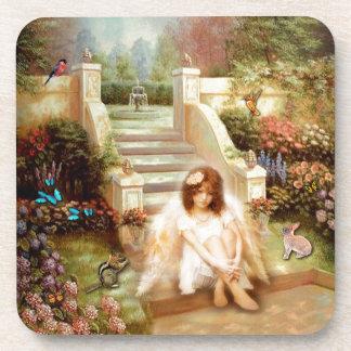 Angelic Serenity Garden Drink Coasters