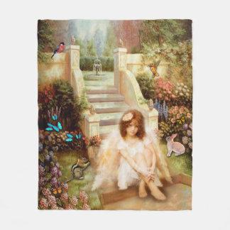 Angelic Serenity Garden Fleece Blankets