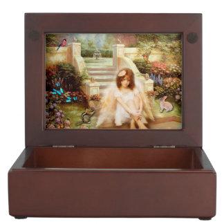 Angelic Serenity Garden Keepsake Jewelry Box
