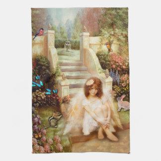 Angelic Serenity Garden Kitchen Towel