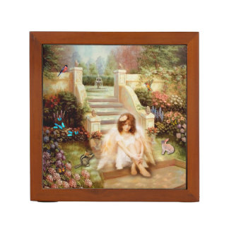 Angelic Serenity Garden Pencil Holder