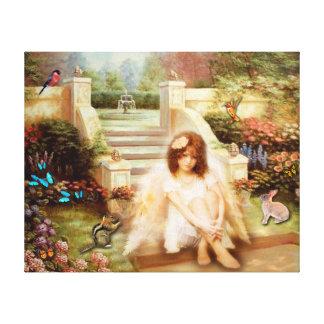 Angelic Serenity Prayer Canvas Prints