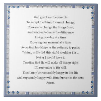 Angelic Serenity Prayer Inspirational Collection Tile