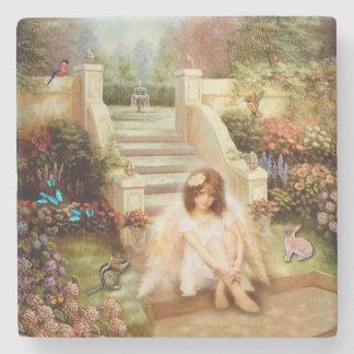Angelic Serenity Prayer Stone Coasters