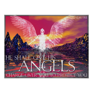 Angelic Transportation Poster
