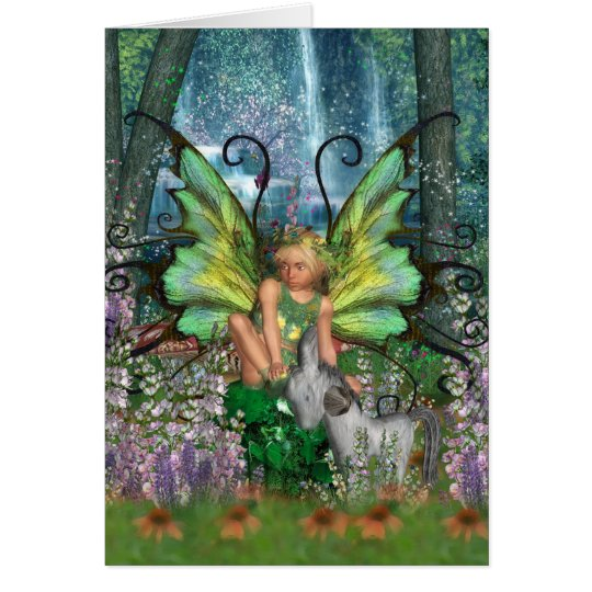 Angelica - Fairy Art With Woodland Fairy-Rocking H Card