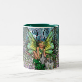 Angelica - Fairy Art With Woodland Fairy-Rocking H Two-Tone Coffee Mug