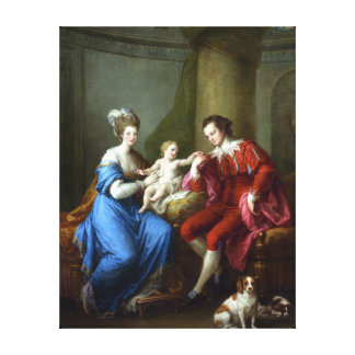 Angelica Kauffman Edward Smith Stanley and Family Canvas Print