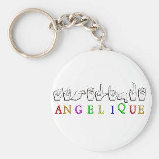 Angelique KEYCHAIN FINGERSPELLED ASL SIGN