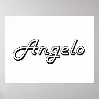 Angelo Classic Retro Name Design Poster