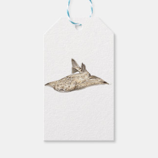 Angelote, shark angel pack of gift tags