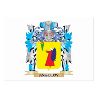 Angelov Coat Of Arms Business Cards