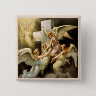 Angels 2 Inch Square Button