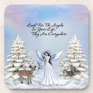Angels Are Everywhere Drink Coasters