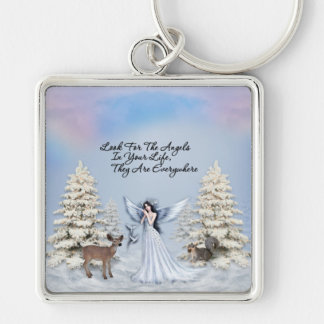 Angels are Everywhere Winter Premium Keychain