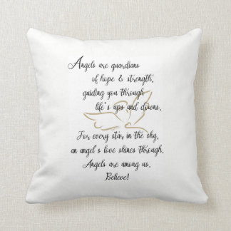 Angels are guardians of hope & strength..pillow throw pillow