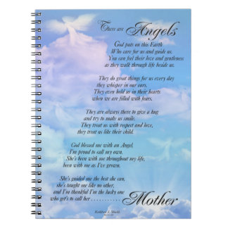 Angels are Mothers Poem Spiral Note Book