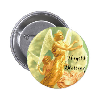 Angels Blessing Style, 2¼ Inch Round Button