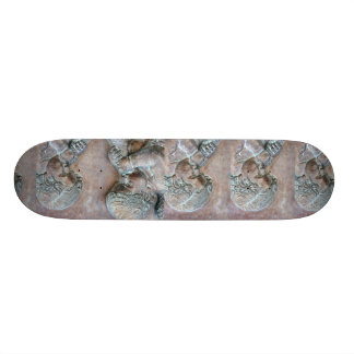 Angels blowing trumpets copper aged relief skate board decks