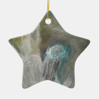 Angels Ceramic Star Ornament