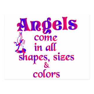 Angels Come In All Shapes, Sizes & Colors Postcards