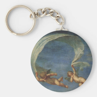Angels Detail from Adonis Led by Cupids by Albani Basic Round Button Keychain