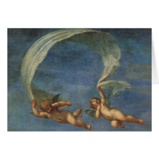 Angels Detail from Adonis Led by Cupids by Albani Greeting Card