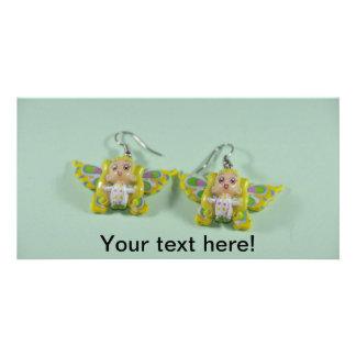 Angels earrings photo greeting card