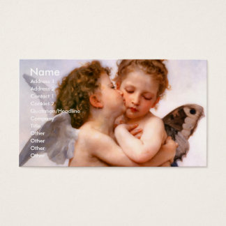 Angels First Kiss, Bouguereau Business Card