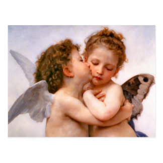 Angels First Kiss, Bouguereau Postcard