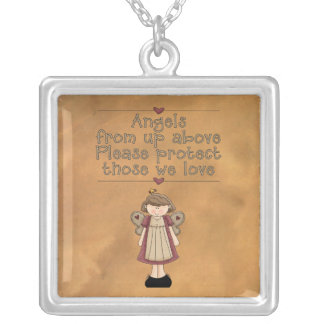 Angels from Above Sterling Silver Necklace Pendant