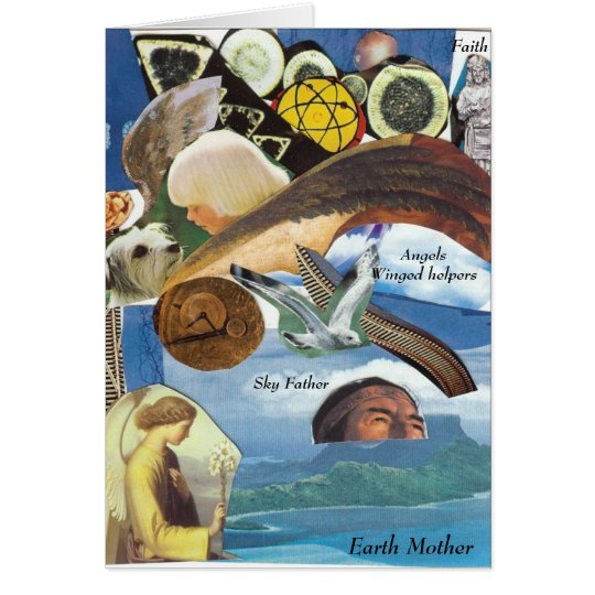 Angels Guides Soul Path collage card
