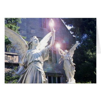 Angels Heavenly Host Merry Christmas Greeeting Art Card