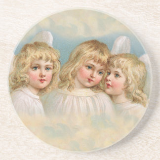 Angels in a Pastel Sky Drink Coaster
