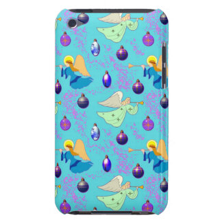Angels in Blue – Ornaments & Trumpets iPod Case-Mate Case