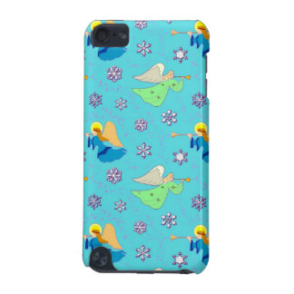 Angels in Blue – Snowflakes & Trumpets iPod Touch 5G Cases