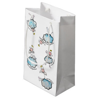Angels in clouds small gift bag