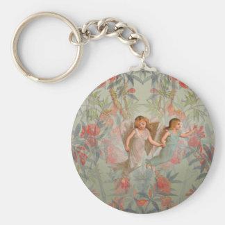 Angels in the Garden Basic Round Button Keychain