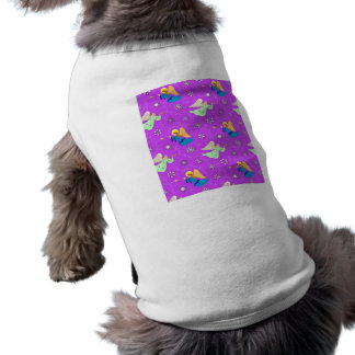 Angels in Violet - Snowflakes & Trumpets Dog Clothes