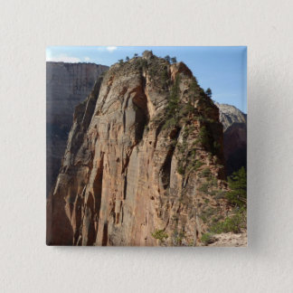 Angels Landing at Zion National Park 2 Inch Square Button