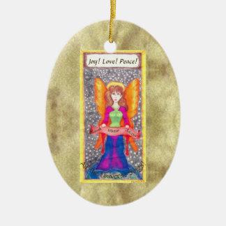 Angels of Earth Yule Solstice Ceramic Ornament