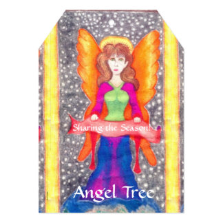 Angels of Earth Yule Solstice Christmas Angel Tree Personalized Announcements