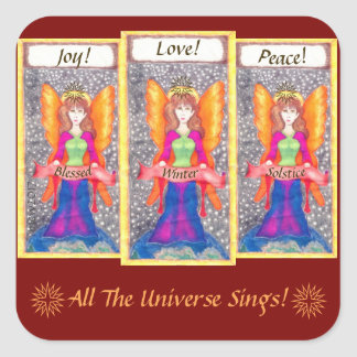 Angels of Earth Yule Solstice Square Sticker