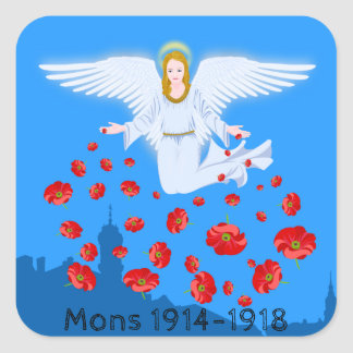Angels of Mons – Armistice Day commemoration of WW Square Sticker